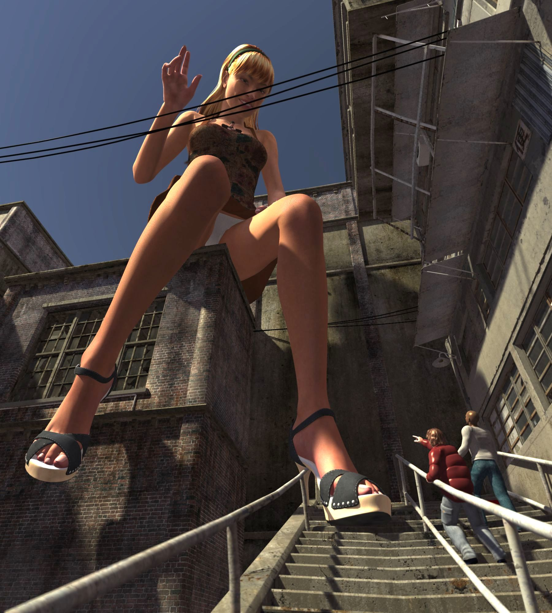29909 - blonde breasts chasing gentle giantess hands high_heels poser romantic tonto_blackadder