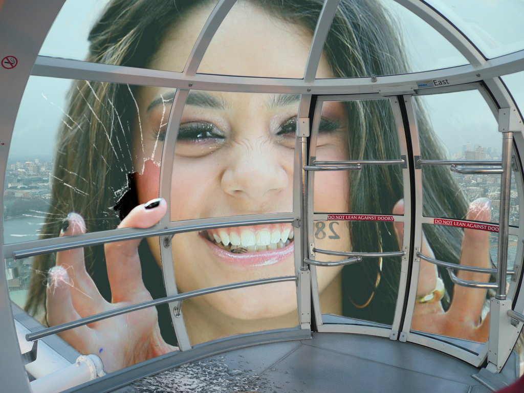 157422 - accasbel broken_glass city closeup collage face fingers giantess london_eye looking_at_viewer smile teeth vanessa_hudgens