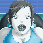 160291 - cleavage drawing giantess jora_bora link mouth nintendo saliva shrunken_man vore wii_fit_trainer