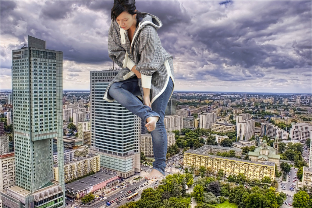 165879 - barefoot brunette cars city clothed collage giantess lilly_allen shore_hair sky skyscrapers storm_clouds underfoot zigi550