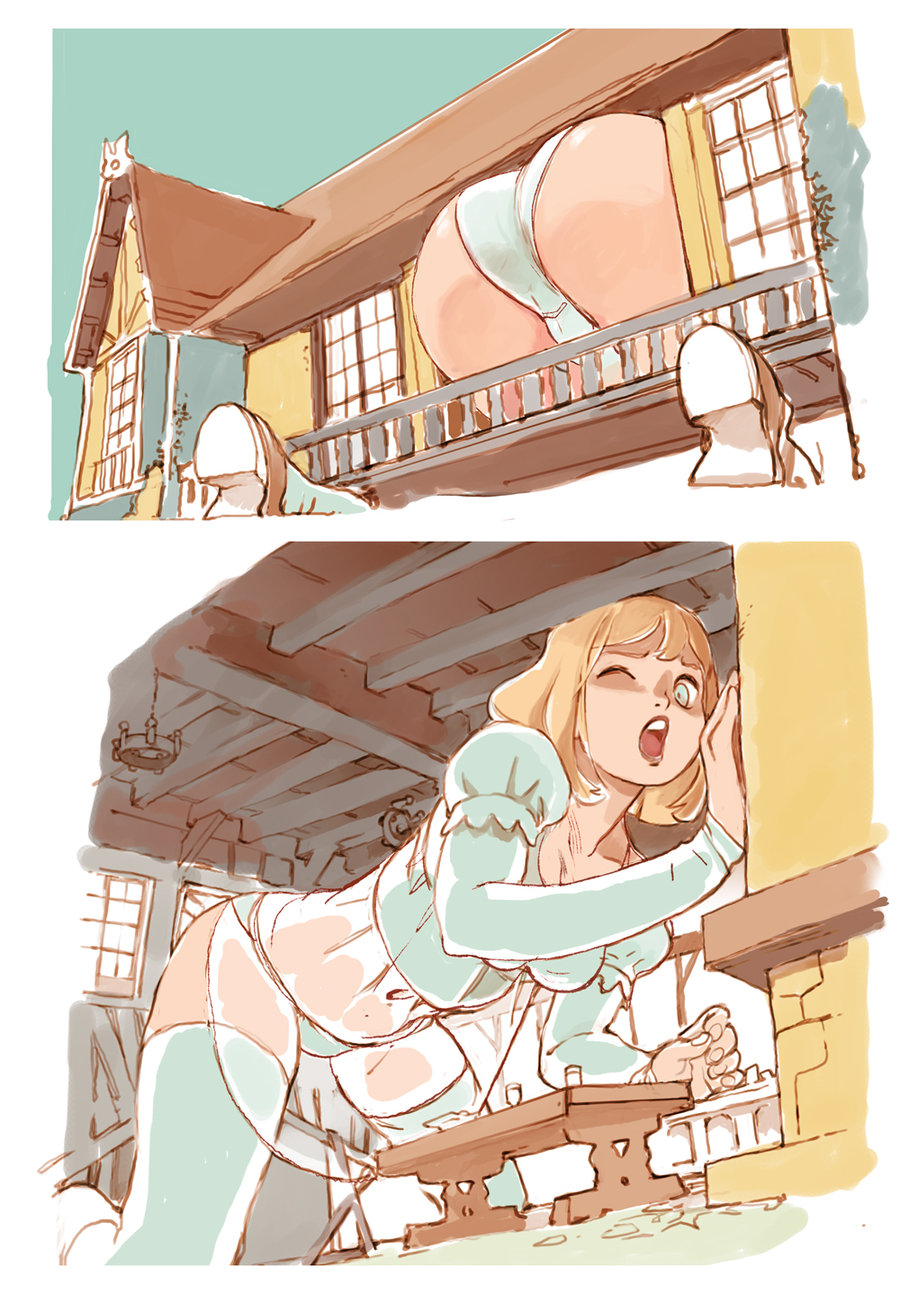 155278 - alice alice_in_wonderland butt color drawing giantess growth inside panties