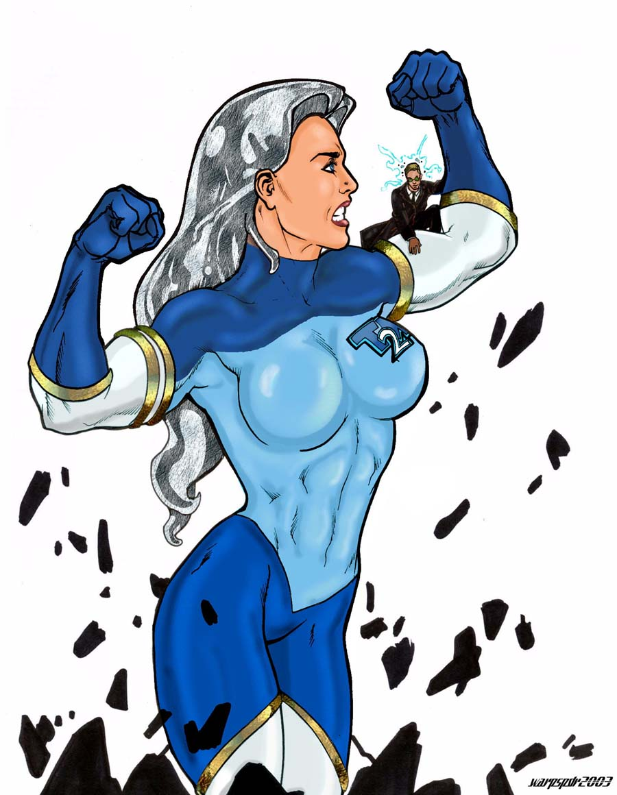 6182 - anime color drawing giantess growth muscular superhero warpspdr2003