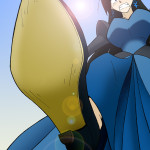 167591 - angry arthurt2013 black_hair blue_eyes color giantess high_heels looking_at_viewer point_of_view queen stomp
