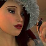 168729 - blue_eyes cgi christmas gentle giantess handheld mike973 poser redhead santa santa_hat