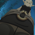 171270 - anime elf_ears evangelyne looking_at_viewer looking_down low_angle point_of_view screenshot wakfu