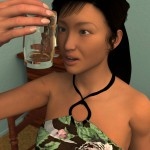 118599 - asian entrapment giantess handheld hands long_hair naked_men nude poser prisoner shrunken_men tonto_blackadder