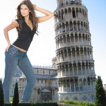 169634 - brunette carla_ossa clothed collage giantess leaning_tower_of_pisa long_hair monument people wonderslug