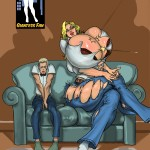 165048 - be blonde cleavage clothes_ripping comic giantess giantess_fan growth large_boobs sitting size_difference small_man socks sofa