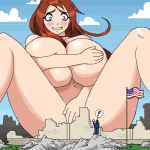 113659 - anime color crush destruction drawing embarrassed giantess growth nude