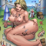 154084 - barefoot breasts castle climbers color cum drawing giantess giantess_fan knights nude pussy sex_toy