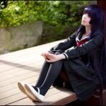 176038 - collage dock fleischige_oma hands nylons purple_hair shoes shrunken_man sitting unaware under_skirt uniform