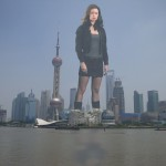 172097 - boots brunette city collage destruction looking_at_viewer mega_giantess skirt sky skyscrapers summer_glau tower waterfront wonderslug