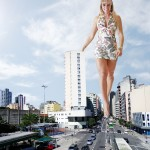 181271 - blonde boulevard buildings collage crushed_cars dress giantess juliana_salimeni legs looking_at_viewer sky street traffic wonderslug