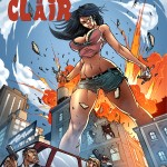 174245 - angry black_hair blonde city destruction drawing explosion giantess giantessfan gun handheld large_breasts long_hair looking_down midriff shorts