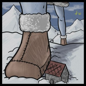 A Frost Giantess Hikes