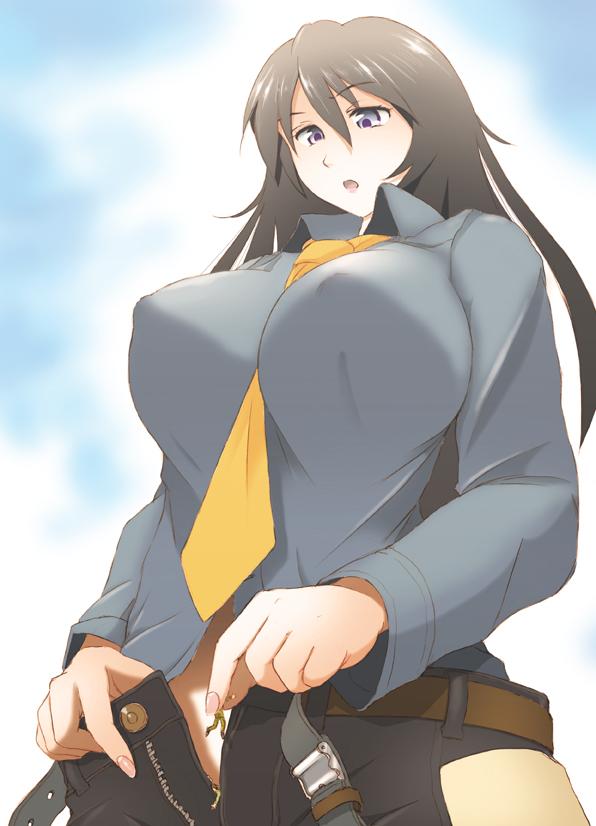 159336 - between_fingers bikuta clothed color drawing dropped giantess panties_insertion shrunken_man upward_angle