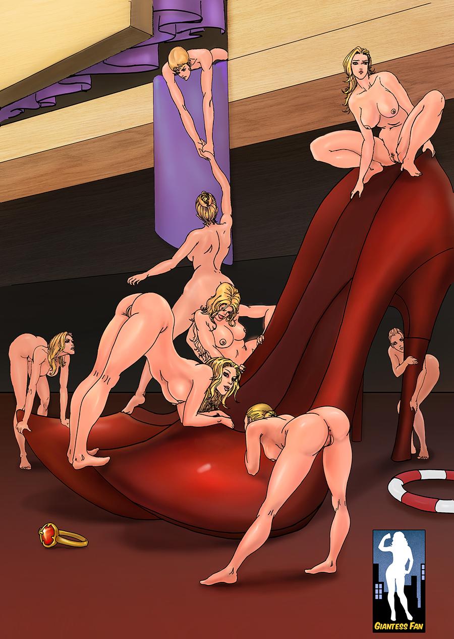 Giant women shrunken men sex
