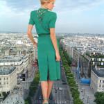 167152 - behind_view blonde cars city collage crushed_cars dress giantess green_dress high_heels sky street wonderslug