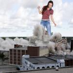 167908 - brunette buildings collage crushed_buildings destruction giantess smoke wonderslug