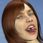 168323 - giantess looking_at_viewer mouth poser redfiredog redhead shrunken_man tongue vore