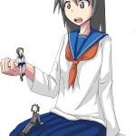 63446 - anime drawing gentle giantess ochiko_terada school_uniform seifuku shrunken_men shrunken_women