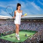170871 - brunette collage crowds footprints giantess looking_at_viewer lucy_pinder sky sneakers socks tennis tennis_court wonderslug