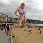 179507 - ankles barefoot beach blonde collage crowds high_heels huge_breasts jordan_carver looking_at_victims looking_down swimsuit wonderslug