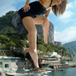 201 - city crush feet female giantess high_heels jessica_alba mega_giantess ocean (1)